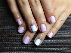 Light mani on short nails :: one1lady.com :: #nail #nails #nailart #manicure