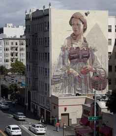 New mural in San Francisco by aryz