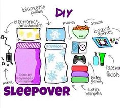 Just in case you need some tips on sleepover essentials