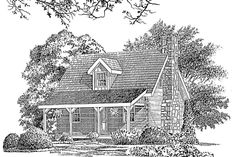 Cabins & Cottages Under 1,000 Square Feet: Lake Haven Plan #609