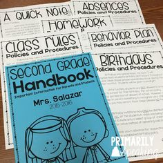 Send home a handbook on the first day of school so that parents and students have access to important information throughout the school year!  Prep your handbook during the summer months and save time in the fall! $ {editable}