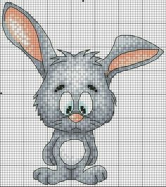 Cross-stitch Sad Bunny  ... no color chart available, just use pattern chart as your color guide.. or choose your own colors...    murzilka1019 — «81842044.jpg» на Яндекс.Фотках