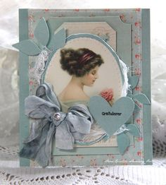 A card using the Pion Design Palette papers and Paris Flea Market