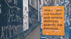 lambe lambe de Laura Guimarães - microrroteiros da cidade. SP/Brasil