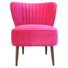 i feel like i need this pink chair, but it wouldn't match my living room :(