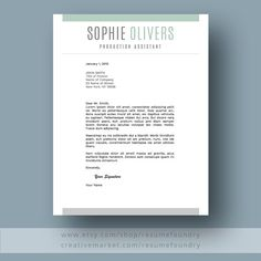 Resume Design : Modern Resume Template for Word Page Resume Cover - Resumes. Cover Letter For Resume, Cover Letter Template, Letter Templates, Modern Resume Template, Resume Template Free, Templates Free, Resume Skills Section, Good Resume Examples, Creative Resume