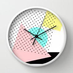 Arty Wall Clock by rocioolmo Home Clock, Clock Art, Diy Clock, Clock Ideas, Diy Wall Art, Home Decor Wall Art, Room Decor, Memphis Furniture, Clock Painting