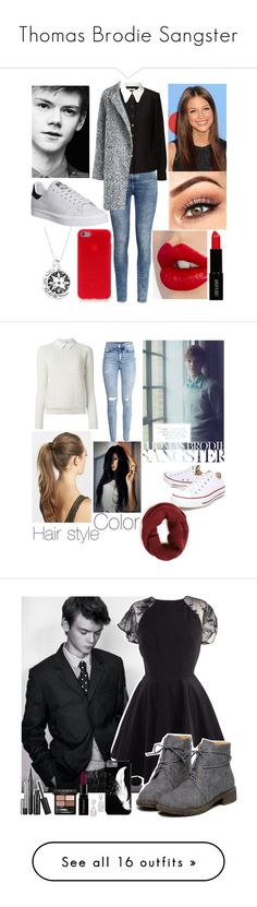 """Thomas Brodie Sangster"" by princesselune97 ❤ liked on Polyvore featuring H&M, Orla Kiely, Paul Brodie, adidas, Charlotte Tilbury, Lord & Berry, Tory Burch, France Luxe, Converse and Marc Jacobs"