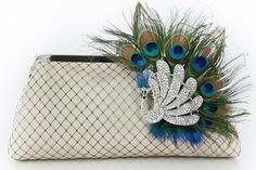 Carry a pretty clutch instead of a bouquet -- it's gorgeous AND practical