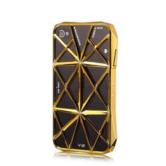 Luxury Emie V12 Aventador Lamborghini Protect Cover Hard Case For Iphone 4G 4S (Golden) - Cases & Skins - iPhone 4/4S - iPhone Accessories