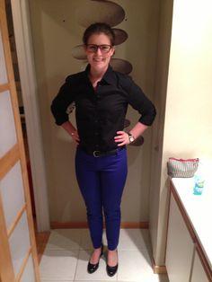 GAP pants & GAP never iron black blouse