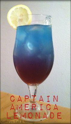 Captain Amercia's Lemonade  It's blue, just for you Michelle!