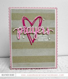 Prayer and higs coming your way! Handmade by Heather Ruwe