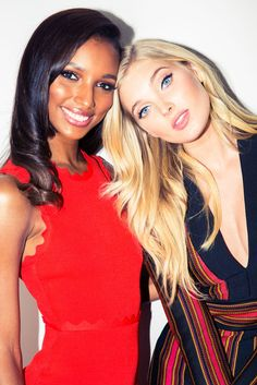Elsa Hosk's baby blues AND Jasmine Tookes glowing skin? This might be too much beauty for one photo