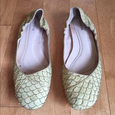 Cute slipper flats Previously worn, but only a handful of times. These are actually a size 39, but fit like a 38 ( US 8) Shoes Flats & Loafers