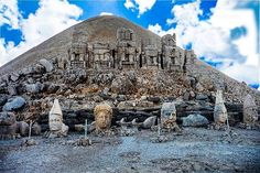 Rising 2150 meters from the Anti-Taurus mountains in south central Turkey stands the archaeological site of Nemrut Dagi . Thought to be the burial tumulus and Hierotheseion (Holy Seat) of the 1st century BC Commagene king, Antiochus I Epiphanes, the site is as awe inspiring as it is enigmatic. #turkey #thephotooftheday #fotografvakti #nemrut #instagood #severekcekiyoruz #I