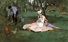 Édouard Manet -The Monet Family in Their Garden at Argenteuil