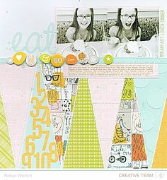 Robyn Werlich  Love the elongated triangles!  Great way to showcase coordinating paper.