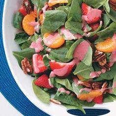 Spinach Salad with Strawberry Vinaigrette from Taste of Home  #tasteofhome  #easterdinner