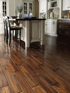 OH HOW I LOVE THESE FLOORS!!!!  Prefinished Timberhill Flooring Manchurian Walnut Click-Together Engineered Hardwood Flooring 3/8