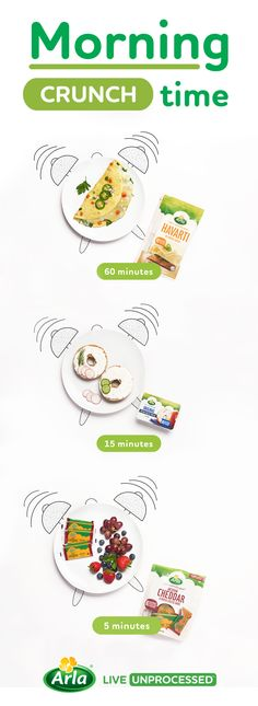 Try these quick before-school breakfast ideas with Arla cheese to get your kids fed and out the door by the time the school bus arrives.