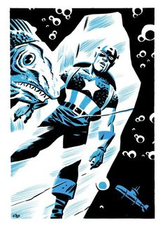 Captain America frozen