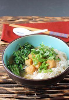 Easy Asian noodle bowls.