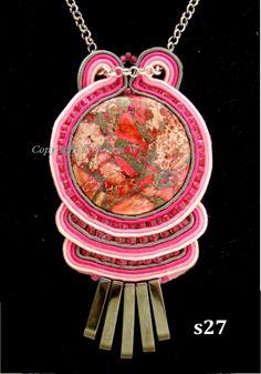 flov design: wisior, pendant, soutache