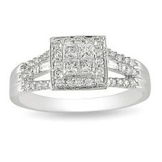 @Overstock - Princess-cut composite diamond engagement ring10-karat white gold jewelryClick here for ring sizing guidehttp://www.overstock.com/Jewelry-Watches/10k-White-Gold-1-2ct-TDW-Diamond-Halo-Engagement-Ring-G-H-I-I2-I3/5618266/product.html?CID=214117 $484.99