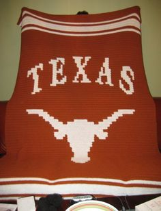 Crochet Pattern For Texas Longhorn Afghan : Texas Longhorns Crochet Graph Crochet: Graphs ...