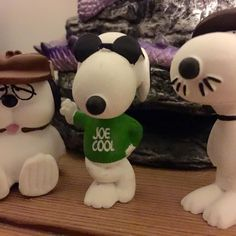I've begun collecting #Peanuts memorabilia. Not obsessively so - finances are finite after all - but I got #Snoopy as #JoeCool and then thought why not get his brothers Spike and Olaf? His girlfriend Fifi is on her way to join the party on my mantelpiece! #comicstrips #charlesshultz #comics #toys