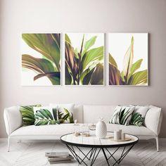 Set Of 3 Prints Botanical Poster Boho Bedroom Decor Above Bed Art 3 Pieces Print Set Digital Nature