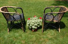 Selling these individually! 1 Antique Rattan & Bamboo Chair, Rattan and Bent Bamboo Arm Chair, Antique Wicker Chair, Wicker Patio Porch Chair - SOLD! Bamboo Chairs, Wicker Chairs, Rattan, Cane Furniture, Wicker Furniture, Outdoor Furniture Sets, Outdoor Decor, Porch Chairs, Arm Chairs