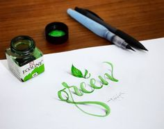 Istanbul-based graphic designer Tolga Girgin (previously) continues to experiment with 3D calligraphic letterforms by adding shading and photographing his pieces from just the right perspective. The effect is uncanny as the logos, words, and figures seem to curl up and hover just above the page