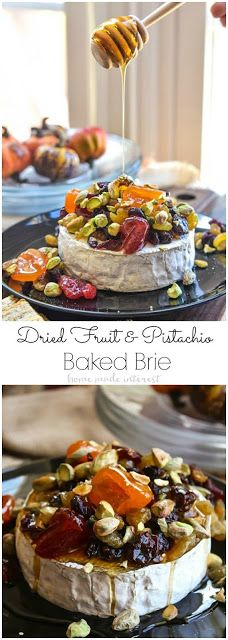 DRIED FRUIT AND PISTACHIO BAKED BRIE | Mom's Food Recipe