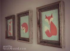 Gender Neutral Nursery - Little Foxes  Nursery artwork