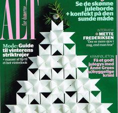 Our classical White folded stars on the cover of ALT 2012. handmade by Stjernestunder.dk