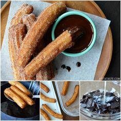 Homemade Churros with Chocolate Sauce