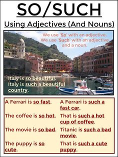 SO / SUCH - Using Adjectives (And Nouns)