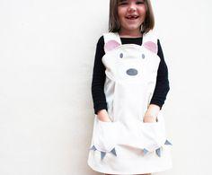 Polar Bear Girls Dress by wildthingsdresses on Etsy, £42.00