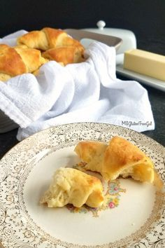 No longer miss fresh baked bread at family functions with these gluten free crescent rolls. Gluten Free Baking, Gluten Free Recipes, Gf Bread Recipe, Bread Recipes, Gluten Free Crescent Rolls, Baked Rolls, Holiday Recipes, Homemade, Savoury Recipes