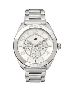 Tommy Hilfiger Ladies Stainless Steel Chrono Watch | very.co.uk