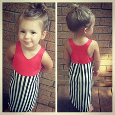 Coral and stripe Maxi dress long toddler beach by TheKnotProject, $24.00