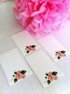 Etiquetas blancas rosas - Shop We Love Parties Bcn