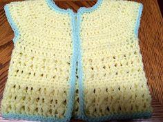 Handmade Crochet Girl's Spring Vest - 6 to 9 months - Yellow #Handmade #Vest #DressyEverydayHoliday