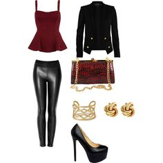 """""""Dinner Date"""" Styled by dora-pinter-szabo on @Polyvore  #MBStyled featuring the 'Vanessa' frame #clutch #handbag"""