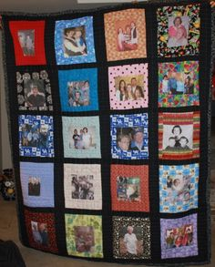 Have you ever made a photo quilt? What a heartwarming and fun idea ... : pictorial quilt books - Adamdwight.com