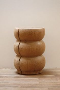 Alma Allen turned stools are so simple and so beautiful. All from salvaged wood! #almaallen #wood  #stools
