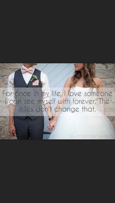 Distance can't change true love.