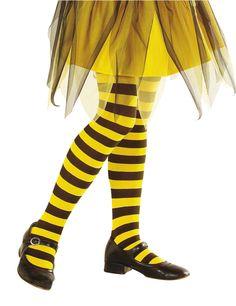Ringel-Strumpfhose Kinder Biene schwarz-gelb , günstige Faschings  Accessoires & Zubehör bei Karneval Megastore, der größte Karneval und Faschings Kostüm- und Partyartikel Online Shop Europas!